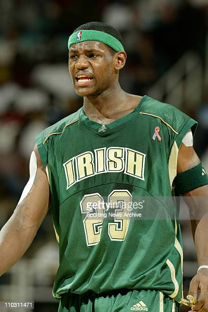 75f1b978c11 LeBron James of St Vincent High School looks on against RJ Reynolds High  School at the