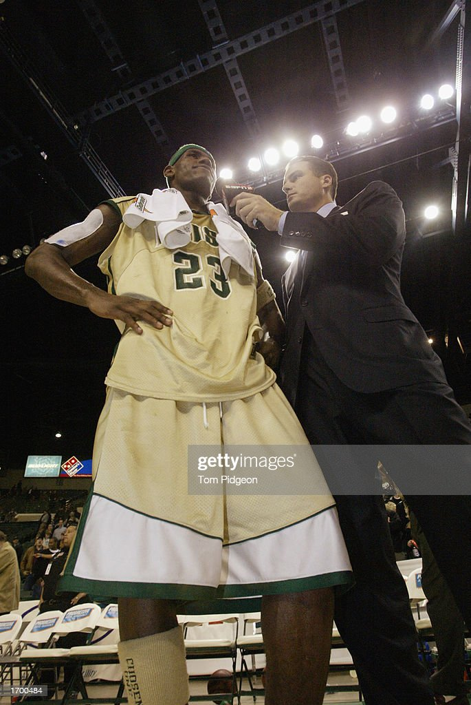 Lebron James #23 interviewed : News Photo