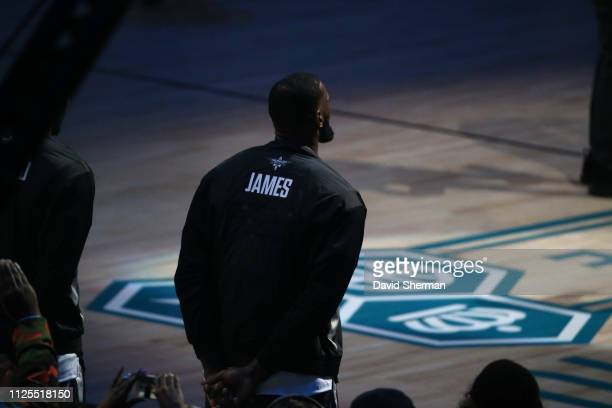 LeBron James of Team LeBron before the 2019 NBA AllStar Game on February 17 2019 at the Spectrum Center in Charlotte North Carolina NOTE TO USER User...