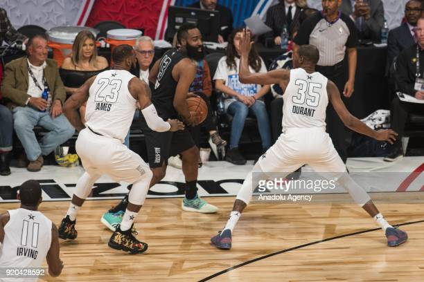 LeBron James of Team Lebron in action during the 2018 NBA AllStar Game at the Staples Center in Los Angeles California on February 18 2018