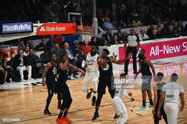 LeBron James of team LeBron looks to score during the NBA AllStar Game as a part of 2018 NBA AllStar Weekend at STAPLES Center on February 18 2018 in...