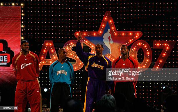 LeBron James of the Cleveland Cavaliers, Chris Paul of the New Orleans/Oklamhoma City Hornets, Kobe Bryant of the Los Angeles Lakers and Dwyane Wade...