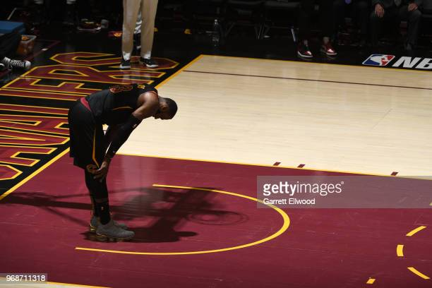 LeBron James of the Cleveland Cavaliers during the game against the Golden State Warriors during Game Three of the 2018 NBA Finals on June 6 2018 at...