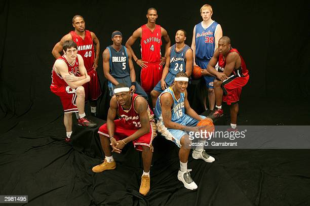 LeBron James of the Cleveland Cavaliers Kirk Hinrich of the Chicago Bulls Udonis Haslem of the Miami Heat Josh Howard#5 of the Dallas Mavericks Chris...