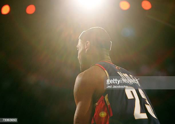 LeBron James of the Cleveland Cavaliers participates in the PlayStation Skills Challenge during NBA All-Star Weekend on February 17, 2007 at Thomas &...