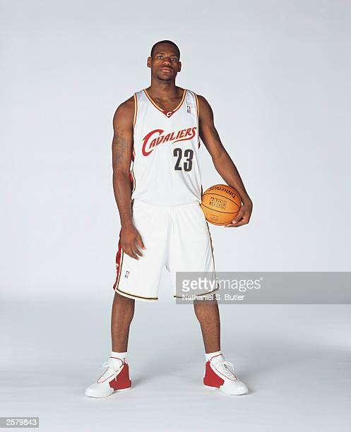 Lebron James of the Cleveland Cavaliers poses for a portrait during NBA Media Day at Gund Arena in Cleveland Ohio NOTE TO USER User expressly...