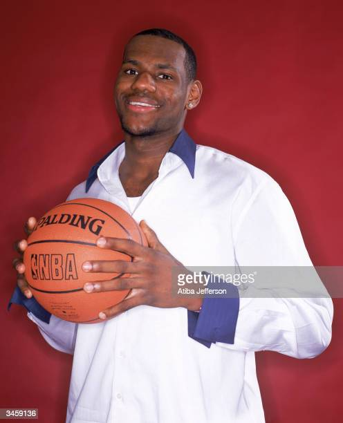 LeBron James of the Cleveland Cavaliers poses for a portrait during the 2004 NBA AllStar Weekend on February 13 2004 in Los Angeles California NOTE...