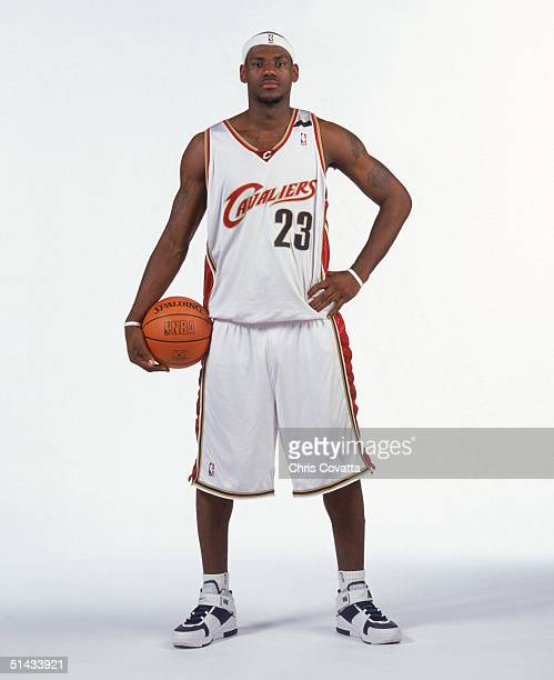 LeBron James of the Cleveland Cavaliers poses for a portrait during NBA Media Day on on October 4 2004 in Cleveland Ohio NOTE TO USER User expressly...