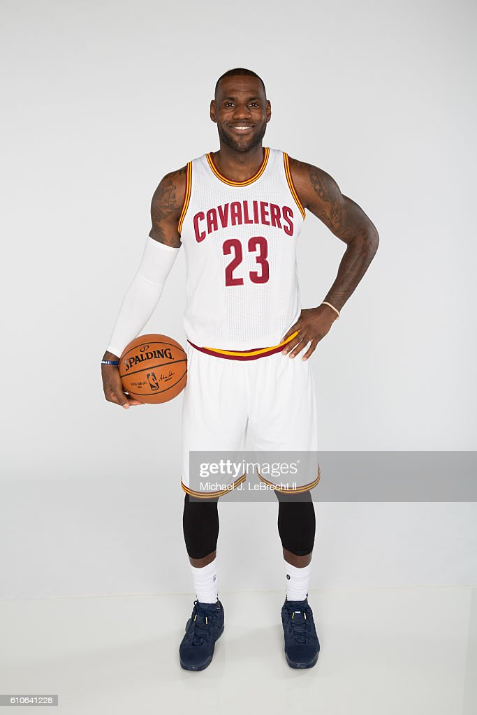 2ac51ff97ab LeBron James of the Cleveland Cavaliers poses for a portrait during ...