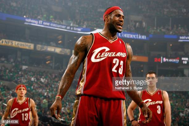 check out d4ce0 f96df LeBron James of the Cleveland Cavaliers reacts to a call in Game Seven of  the Eastern