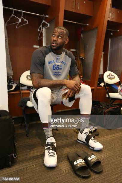 LeBron James of the Eastern Conference AllStars during the NBA AllStar Game as part of the 2017 NBA All Star Weekend on February 19 2017 at the...