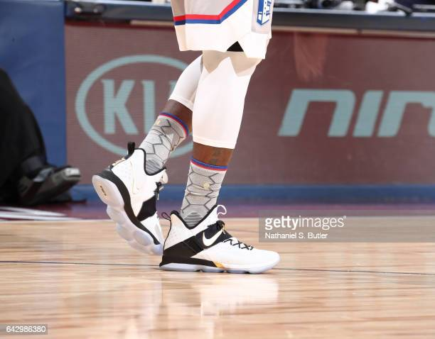 LeBron James of the Eastern Conference AllStars sneakers during the NBA AllStar Game as part of the 2017 NBA All Star Weekend on February 19 2017 at...