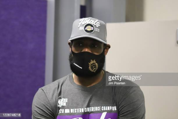 LeBron James of the Los Angeles Lakers after the game against the Denver Nuggets in Game five of the Western Conference Finals of the 2020 Playoffs...