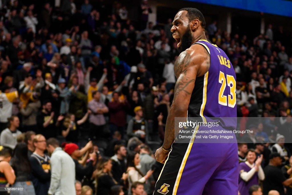 DENVER NUGGETS VS LOS ANGELES LAKERS, NBA REGULAR SEASON : Nyhetsfoto