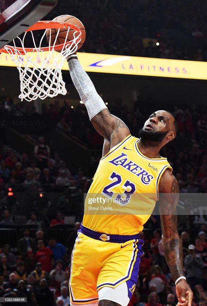 Los Angeles Lakers v Portland Trail Blazers : News Photo