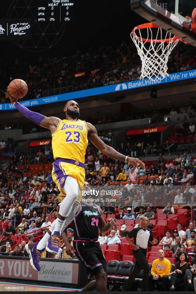 Los Angeles Lakers v Miami Heat : News Photo