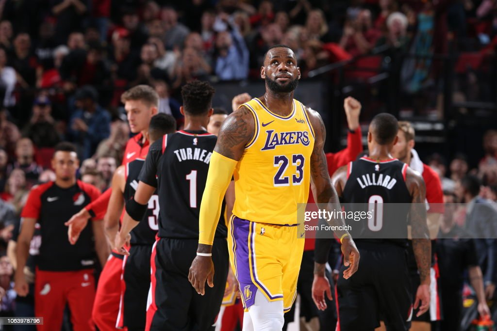 Los Angeles Lakers v Portland Trail Blazers  News Photo