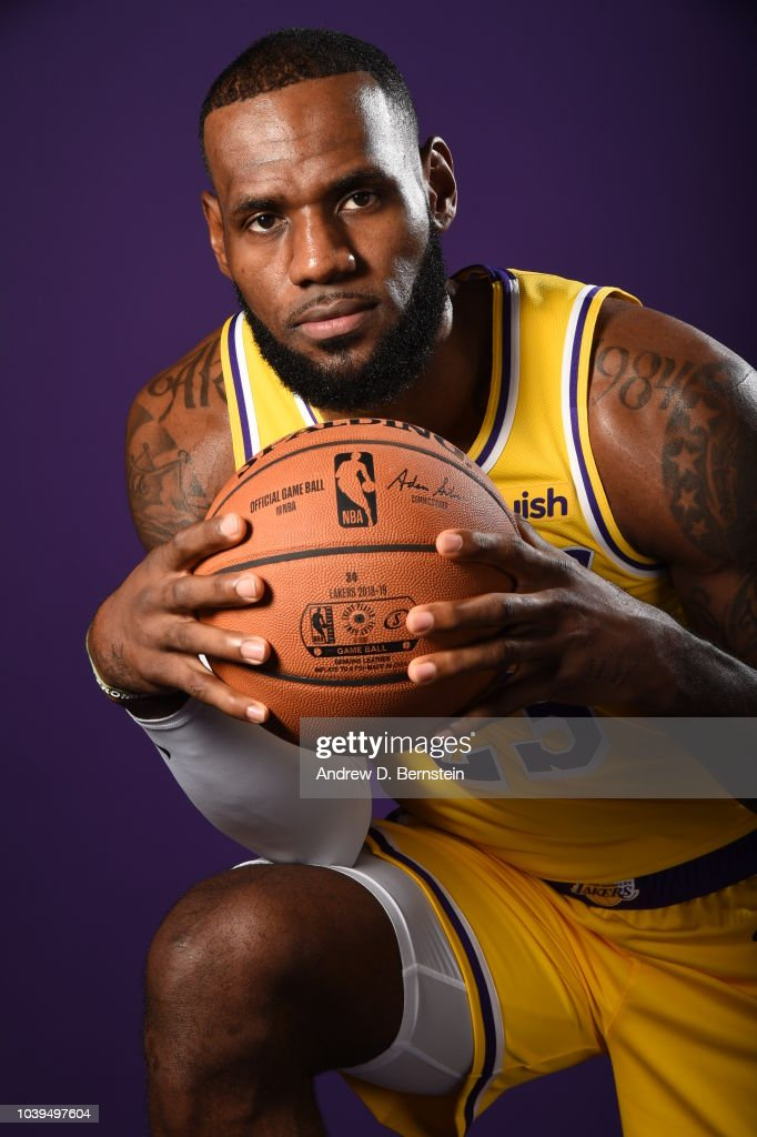 3a0dc213a6c LeBron James of the Los Angeles Lakers poses for a portrait during ...