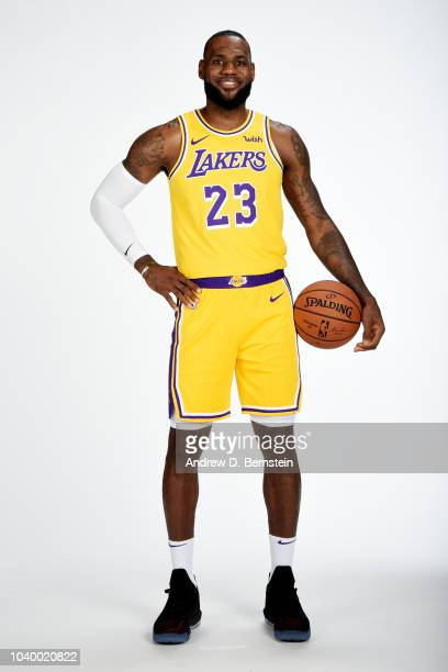 LeBron James of the Los Angeles Lakers poses for a portrait during media day at UCLA Health Training Center on September 24 2018 in El Segundo...