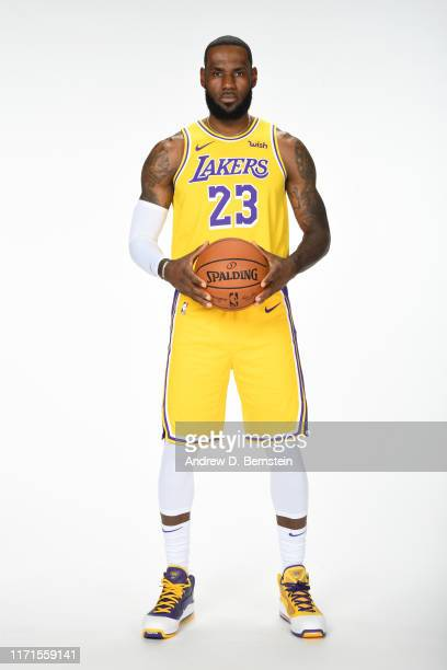 LeBron James of the Los Angeles Lakers poses for a portrait during media day on September 27, 2019 at the UCLA Health Training Center in El Segundo,...