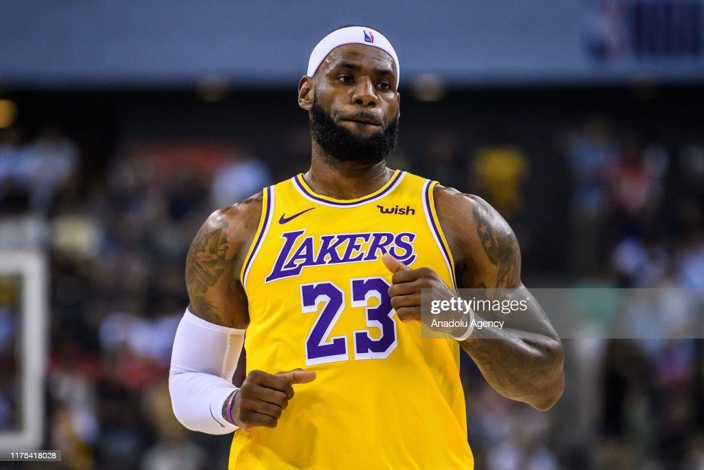 2019 NBA Global Games Preseason: Los Angeles Lakers vs Nets : News Photo