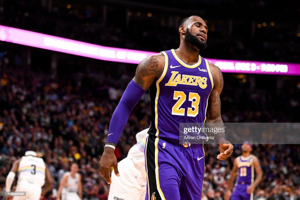 DENVER NUGGETS VS LOS ANGELES LAKERS, NBA : News Photo