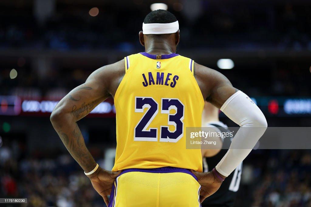 Los Angeles Lakers v Brooklyn Nets - NBA China Games 2019 : News Photo
