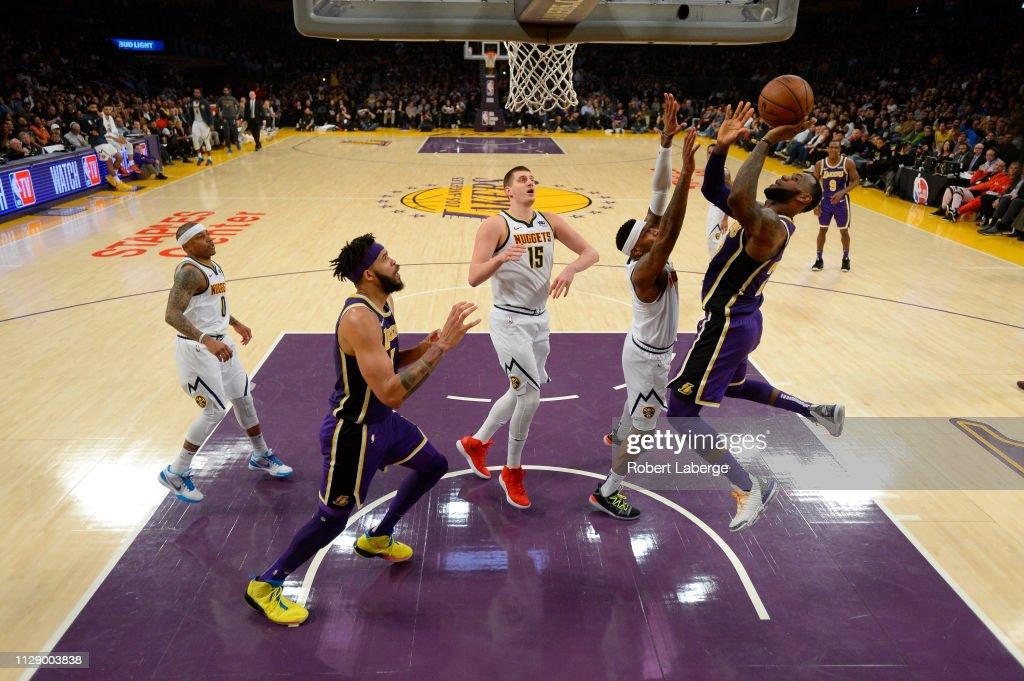 Denver Nuggets v Los Angeles Lakers : Foto jornalística