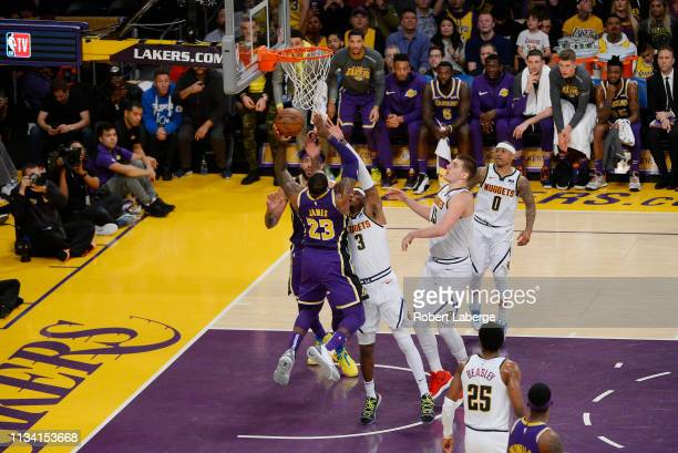 3455c11059cb LeBron James of the Los Angeles Lakers scores to pass Michael Jordan and  move to on