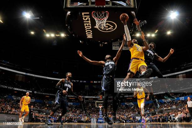 LeBron James of the Los Angeles Lakers shoots the ball against the Orlando Magic on December 11 2019 at Amway Center in Orlando Florida NOTE TO USER...