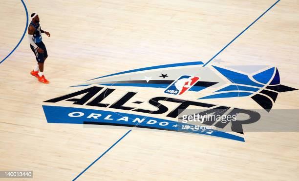 LeBron James of the Miami Heat and the Eastern Conference stands on court during the 2012 NBA AllStar Game at the Amway Center on February 26 2012 in...