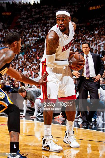 online store ff00f cc8ed LeBron James of the Miami Heat controls the ball against the Indiana Pacers  in Game Five