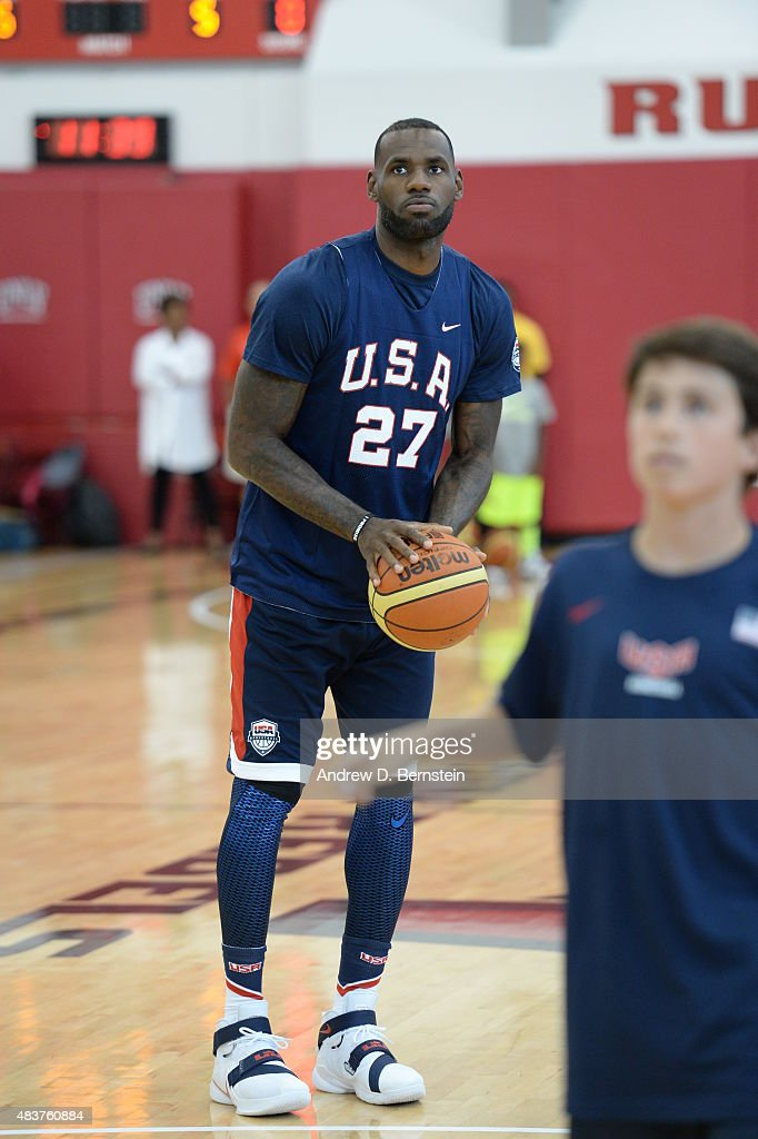 LeBron James of USA Mens National Team participates in minicamp at UNLV on August 12, 2015 in Las Vegas, Nevada.