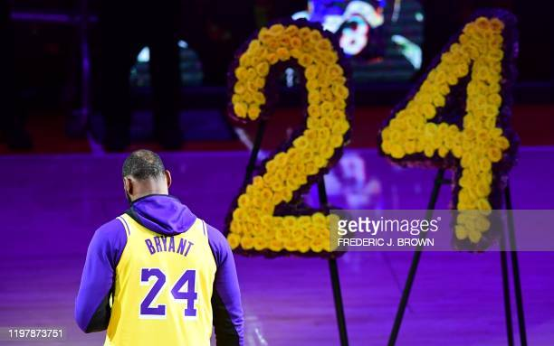 LeBron James pays tribute to Kobe Bryant the late former Los Angeles Laker after he and 8 others were killed in a helicopter accident on January 26...
