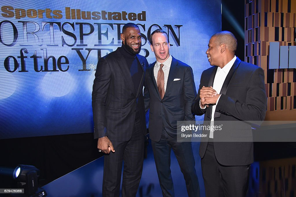 LeBron James, Peyton Manning, and Jay Z attend the Sports Illustrated Sportsperson of the Year Ceremony 2016 at Barclays Center of Brooklyn on December 12, 2016 in New York City.