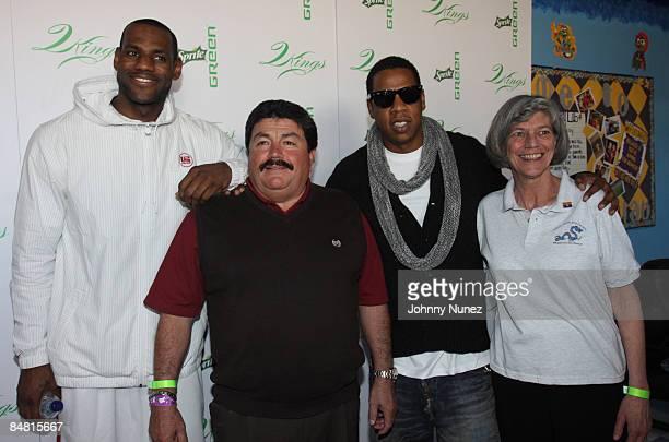 Lebron James Ramon Elias JayZ and Sue Douglas attend the Sprite Green Instrument Donation on February 14 2009 in Mesa Arizona