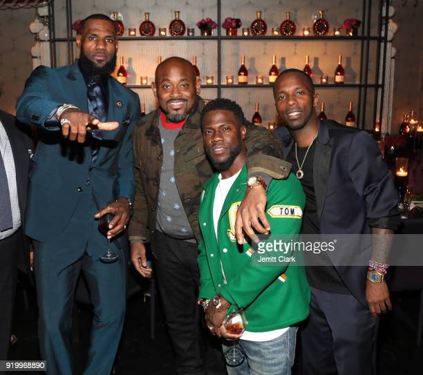Lebron James Steve Stoute Kevin Hart and Rich Paul attend the Klutch Sports Group More Than A Game Dinner Presented by Remy Martin at Beauty Essex on...