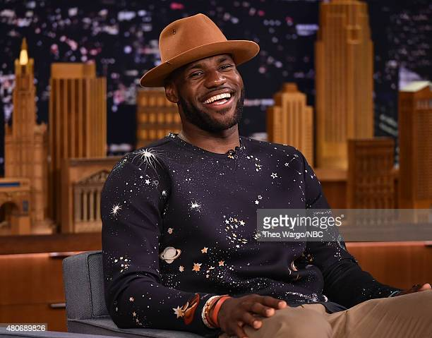LeBron James Visits The Tonight Show Starring Jimmy Fallon at Rockefeller Center on July 14 2015 in New York City