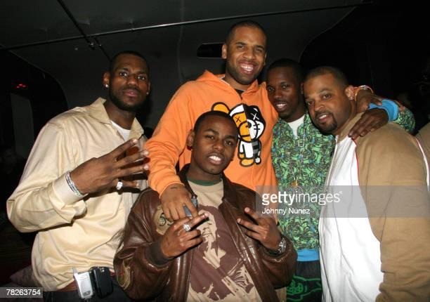 LeBron James,Maverick,Von Smith,Rich Paul and Eddie Jackson