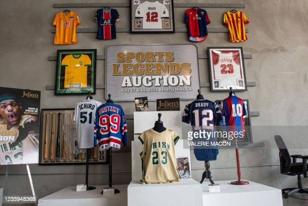 """LeBron James's St. Vincent St. Mary's high school jersey , worn for the Sports Illustrated """"The Chosen One"""" cover, estimated between $400,000 and..."""
