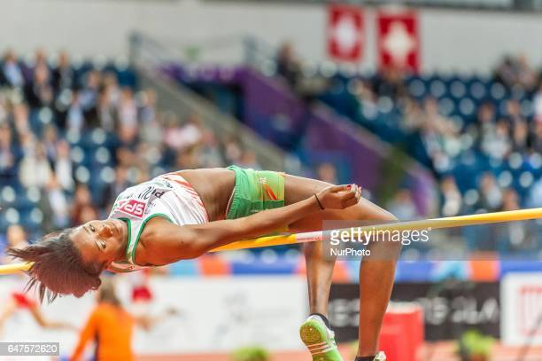 Lecabel QuaresmaPortugal at high jump under Pentathlon for women at European athletics indoor championships in Belgrade on March 3 2017
