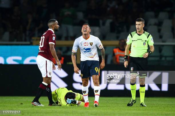 Lecce forward Gianluca Lapadula shows dejection during the Serie A football match n3 TORINO LECCE on September 16 2019 at the Stadio Olimpico Grande...