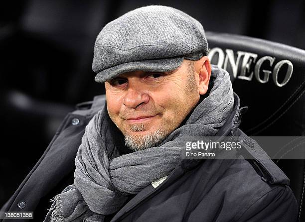 Lecce head coach Serse Cosmi looks on during the Serie A match between Udinese Calcio and US Lecce at Stadio Friuli on February 1 2012 in Udine Italy