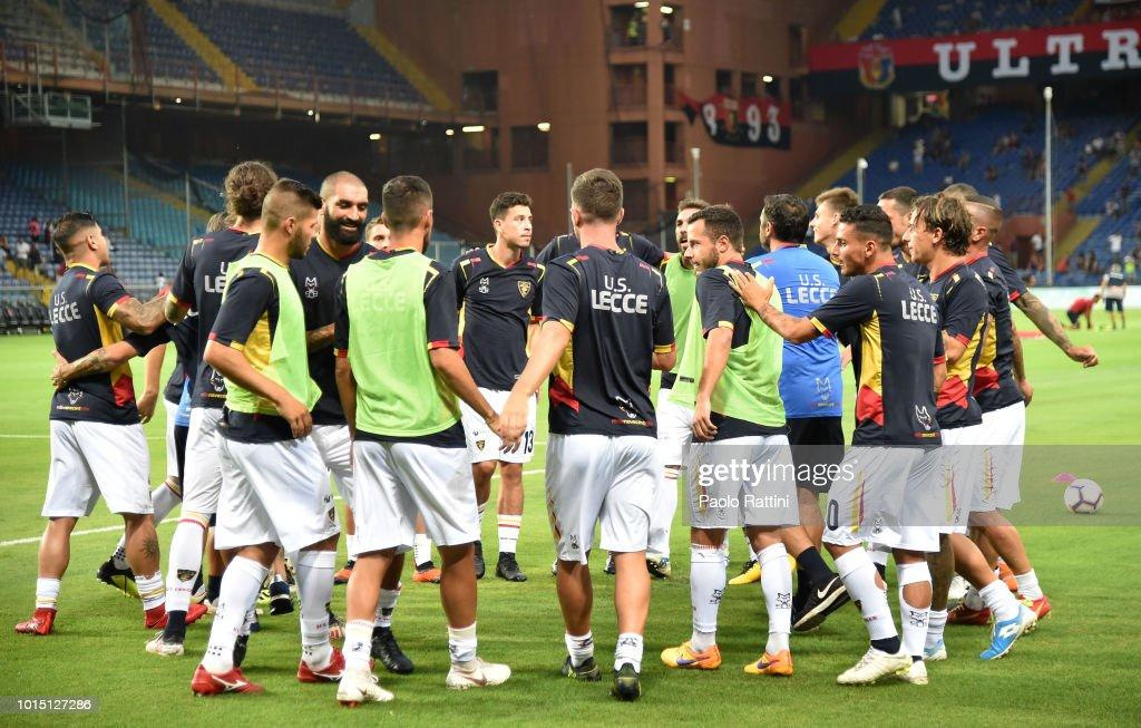 Genoa CFC v Lecce - Coppa Italia : Foto jornalística