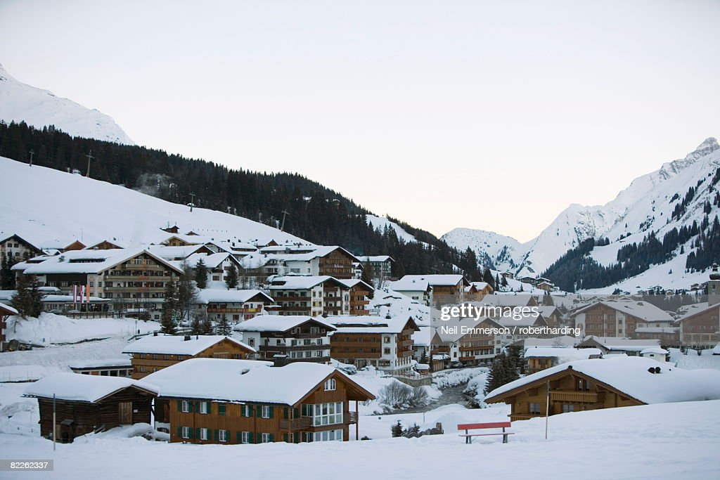 Lech, Arlberg, Austria, Europe : Stock Photo