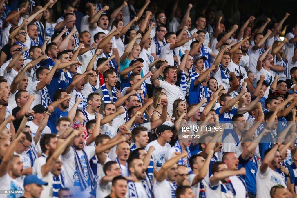 Lech Poznan News: Lech Poznan Fans During UEFA Europa League Match Between