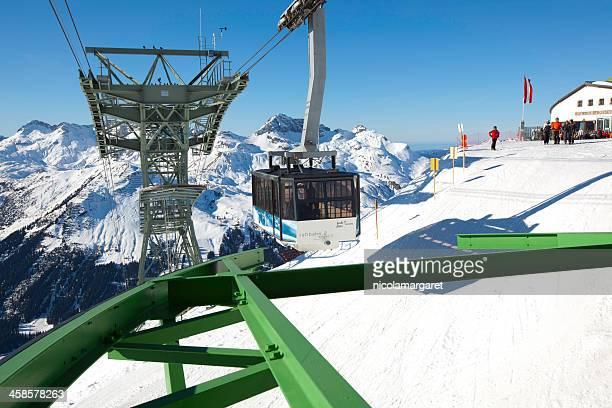 lech ski resort, austria. - lech stock pictures, royalty-free photos & images