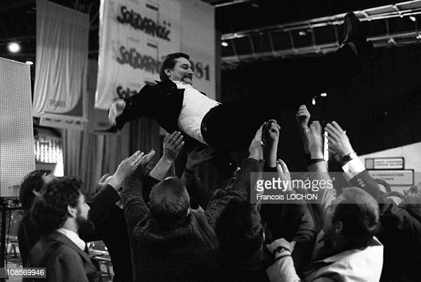 Lech Walesa in Gdansk, Poland on September 29th , 1981.