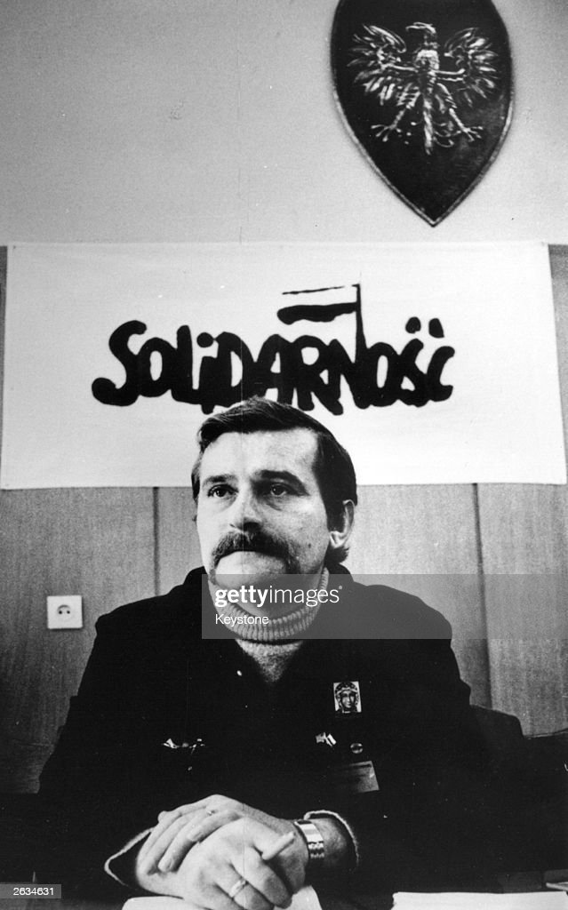 Lech Walesa, Polish trade unionist who worked as an electrician in the Lenin shipyard where he founded the Solidarnosc (Solidarity) Trade Union.