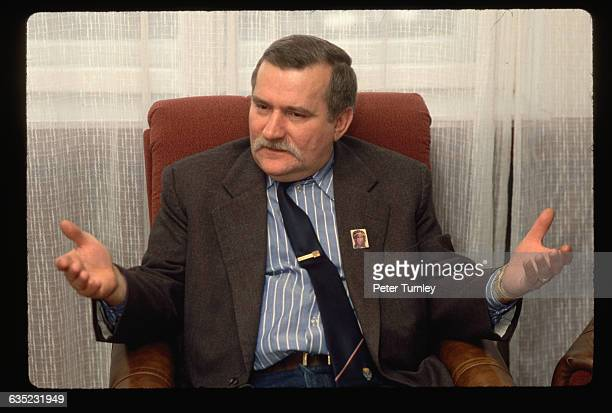 Lech Walesa, seen here wearing a small image of the Virgin on his lapel, helped form and eventually led Solidarnosc , the first independent trade...